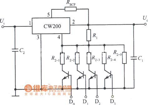 integrated circuit power supply logic integrated regulated power supply circuit diagram composed of cw200 power supply