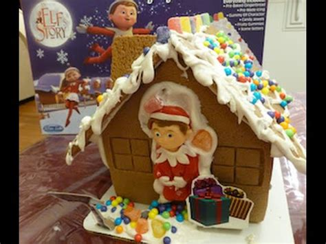 on the shelf gingerbread house how to
