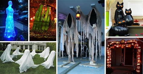 at home halloween decorations 50 best diy halloween outdoor decorations for 2017