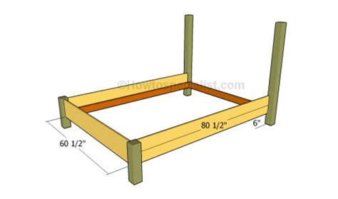 how to build a queen size bed frame queen bed frame plans howtospecialist how to build step by step diy plans