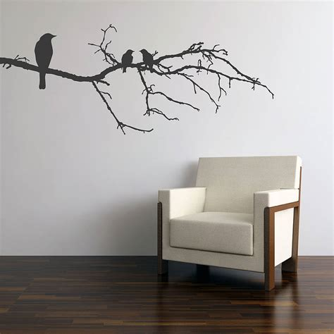 wall stickers black birds on branch wall sticker by parkins interiors notonthehighstreet