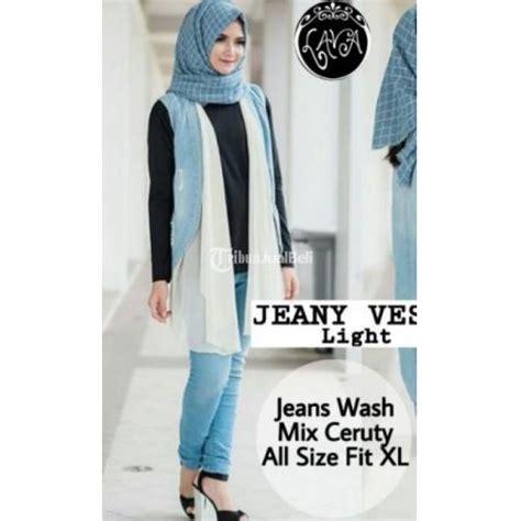 Harga Vest Wanita by Outer Wanita Jeany Vest Light All Size Fil Xl Terbaru