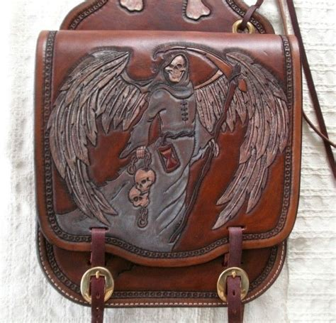 Handmade Leather Motorcycle Saddlebags - made custom leather motorcycle saddle bags by 2nd