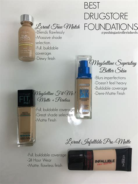 best light to medium coverage foundation for combination skin best drugstore foundations m i s c