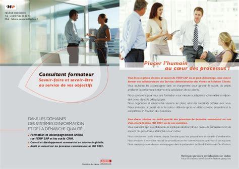 Présentation Lettre Commerciale Afnor Hp Consultant Formateur Sap Iso 9001
