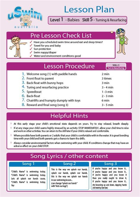 swimming lesson plan template 1000 images about uswim lesson plans on swim