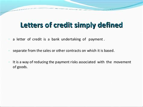 Credit Card Undertaking Letter Letters Of Credit