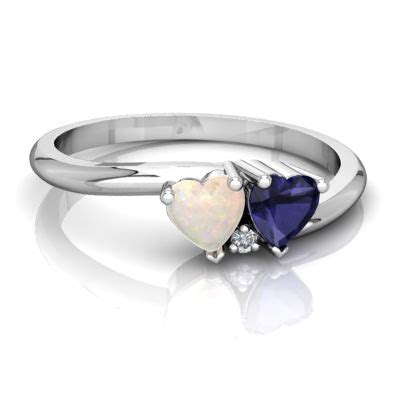 opal and sapphire sweetheart s promise ring r5260 wopsp