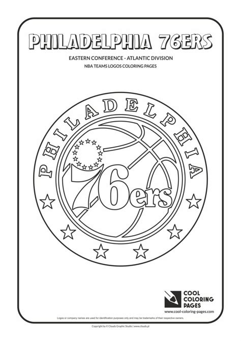76ers Coloring Page by Cool Coloring Pages Philadelphia 76ers Nba Basketball