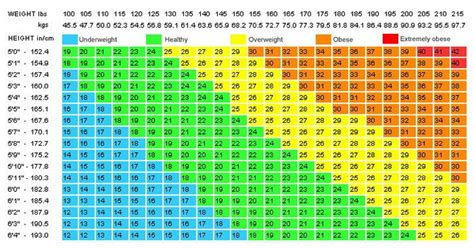 Bmi Index Table by Oh Mass Index Survey The Lobby Onehallyu