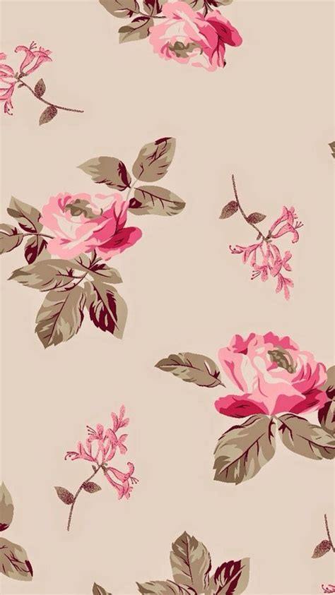 rose pattern screen lock beige pink floral roses iphone wallpaper lock screen phone