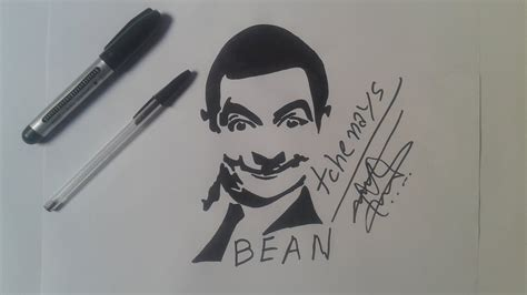 how to draw mr bean tattoo youtube