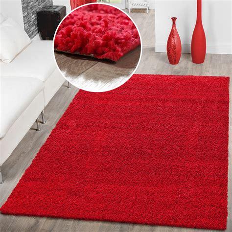 gewicht teppich hochflor shaggy teppich preishammer einfarbig in rot