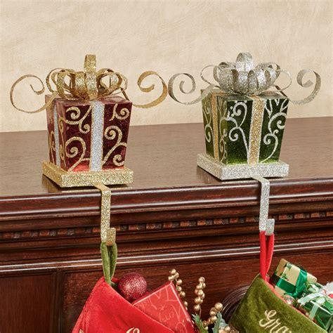 holiday gift stocking holder set