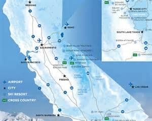 southern california ski resorts map california ski resorts map