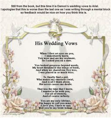 Wedding Vows Poetry his wedding vows poems by poets