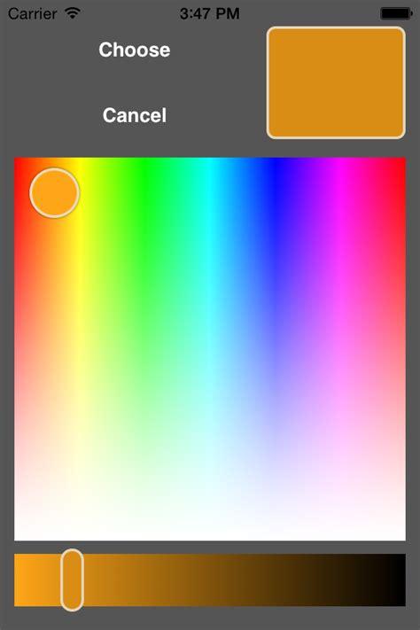 ios color picker github fcanas ios color picker a color picker for ios