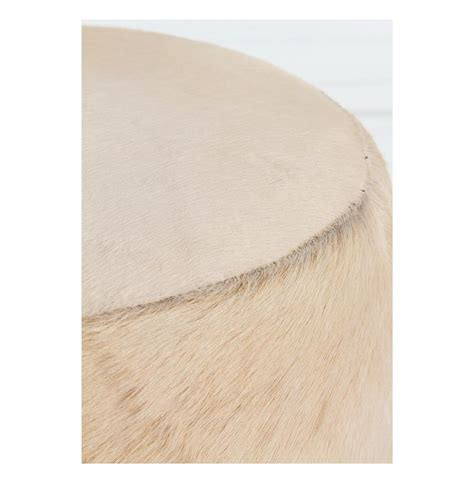 hair on hide ottoman wimberly modern rustic ivory hair on hide leather pouf ottoman