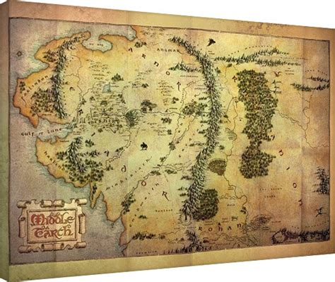 printable map middle earth canvas print the hobbit middle earth map sold at