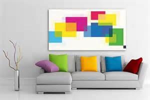 Toile abstraite carr 233 s de couleurs