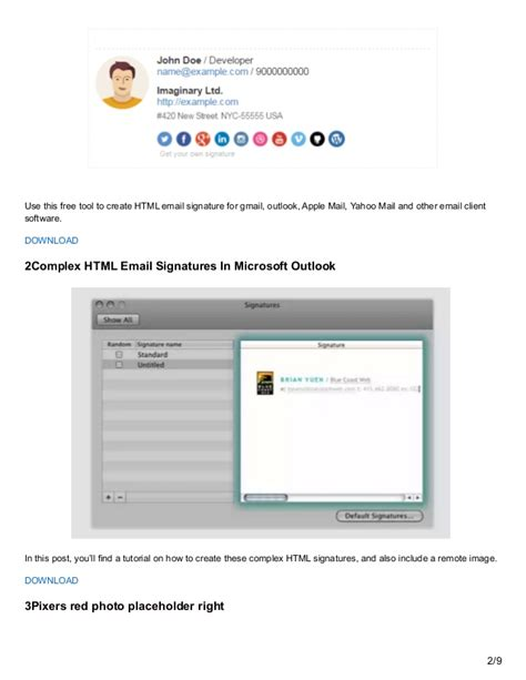 Utemplates Net Free Email Signature Templates Free Email Template Creator