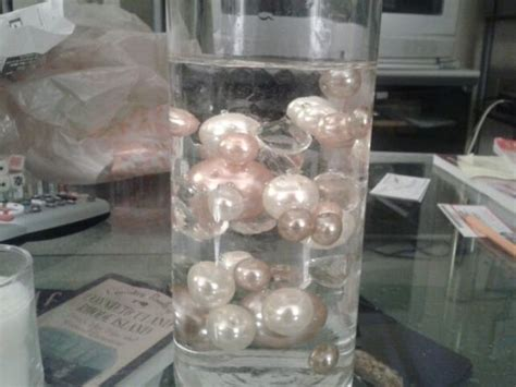 A Early Mock Up Of My Centerpiece Weddingbee Photo Gallery Water Pearl Centerpieces