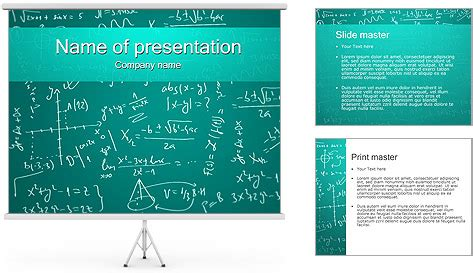 a presentation on mathematicians mathematics formulas powerpoint template backgrounds id