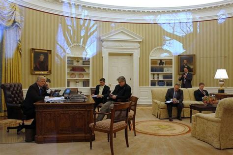 trump desk in oval office in trump white house tumult becoming the norm alaska