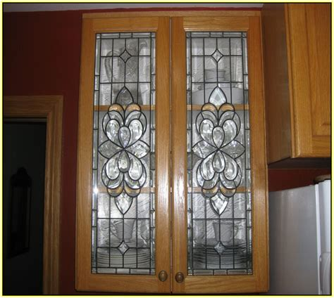 stained glass cabinet door inserts ebay kitchen cabinet beveled glass inserts roselawnlutheran
