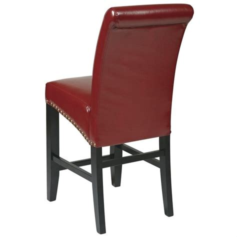 parson bar stool 24 quot counter parsons bar stool in crimson red met8724rd