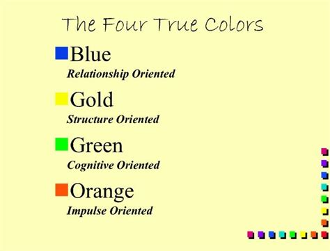 Mba Personality Test by 51 Best Personality True Colors Images On