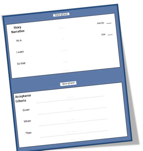 Doc Templates Big 2 Card by Better Projects User Story Template