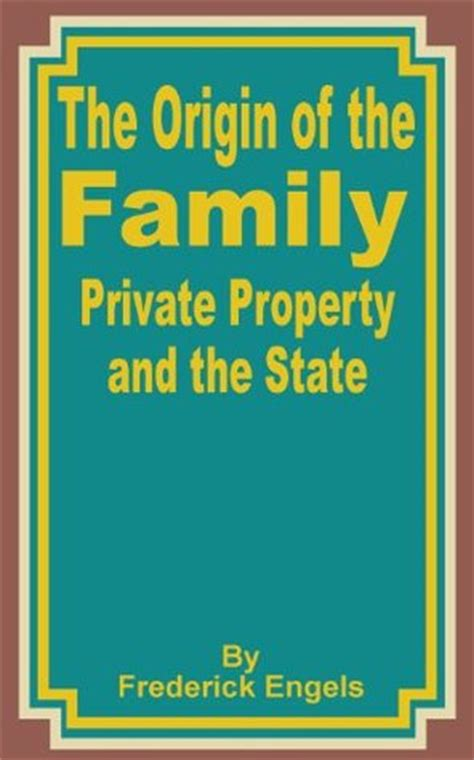 the origin of the family property and the state