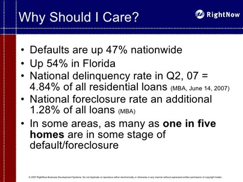 Mba Definition Of Delinquency by The Pre Foreclosure Niche Presentation For Real Estate