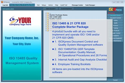 Imsxpress Iso 13485 P 11 Compliant Quality Management Software Complete Package Software Fda Pre Template