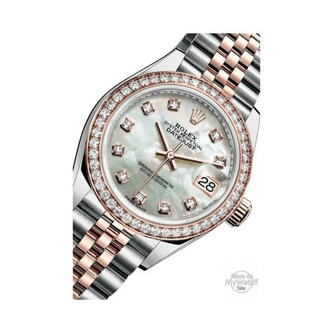 Watch Rolex Lady Datejust 28   Oyster Perpetual 279381 RBR   63341 Everose Rolesor   Diamonds