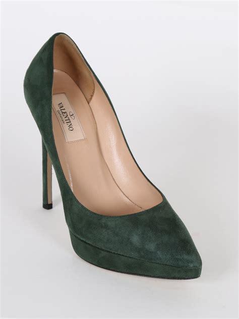 Heels Valentino Import 37 valentino green suede pumps 37 luxury bags
