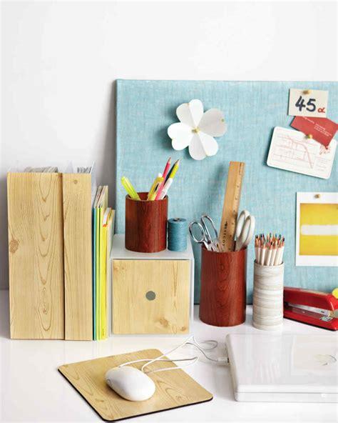 Wood Grain Office Accessories Martha Stewart Diy Office Desk Accessories