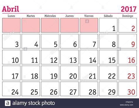 Calendario Octubre 2017 Word April Month In A Year 2017 Wall Calendar In Abril