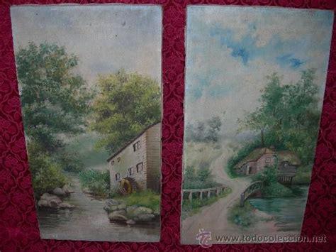 precio de cuadros al oleo antigua pareja de cuadros pintados al oleo con comprar