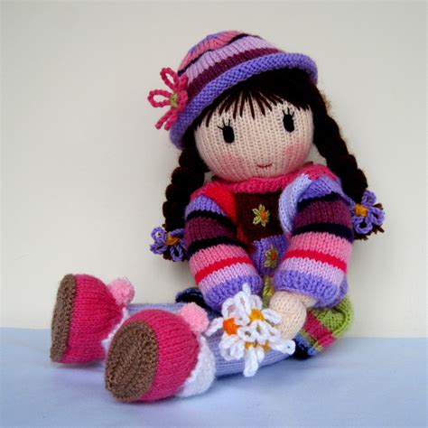 how to knit a doll posy doll knitting pattern knitted doll pdf instant by