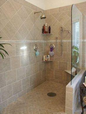 doorless shower bathroom  glass  build wall