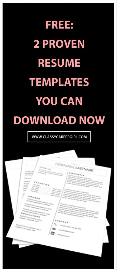 Find A Job You Love Classy Career Girl Proven Resume Templates