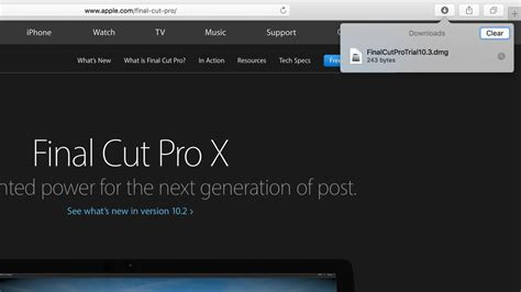 final cut pro upgrade final cut pro x trial page download link alludes to
