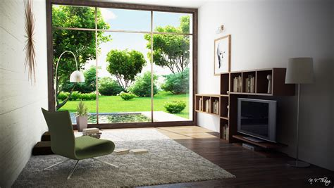View From A Room by Modern Room With Garden View Interior Design Ideas
