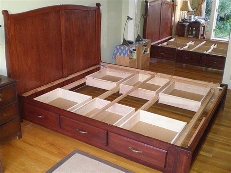 image result  king bed   storage woodworking
