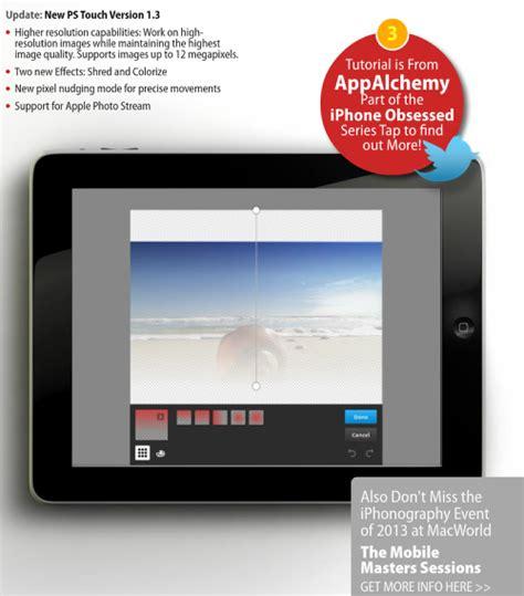 adobe photoshop app tutorial iobsess adobe photoshop touch ipad tutorial