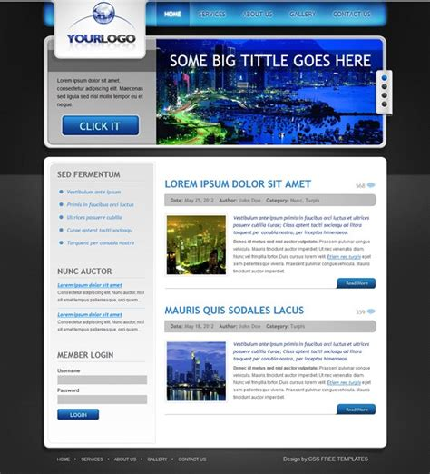 free jquery website templates for business business free css template with jquery slider free css