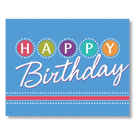 birthday lights birthday card for employees clients and vendors
