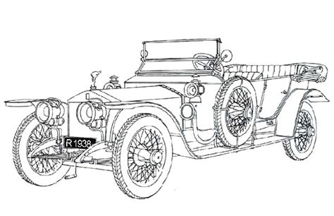 Adinata Coloring Book Cars L rolls royce car coloring pages sketch coloring page